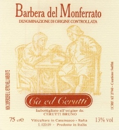 Produzione Barbera del Monferrato